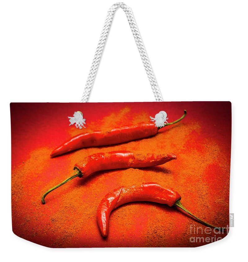 Curry Weekender Tote Bag featuring the photograph Curry Shop Art by Jorgo Photography - Wall Art Gallery