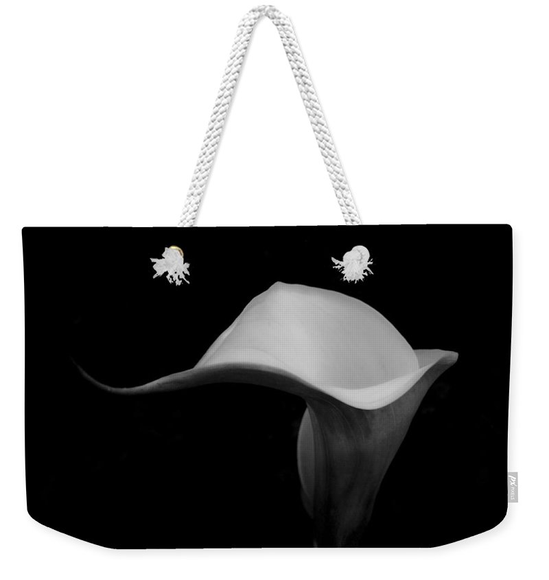 Floral Weekender Tote Bag featuring the photograph Curvature by Donna Blackhall