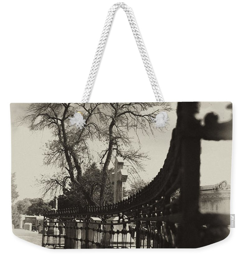 Gate Weekender Tote Bag featuring the photograph Curved Gate by Scott Wyatt