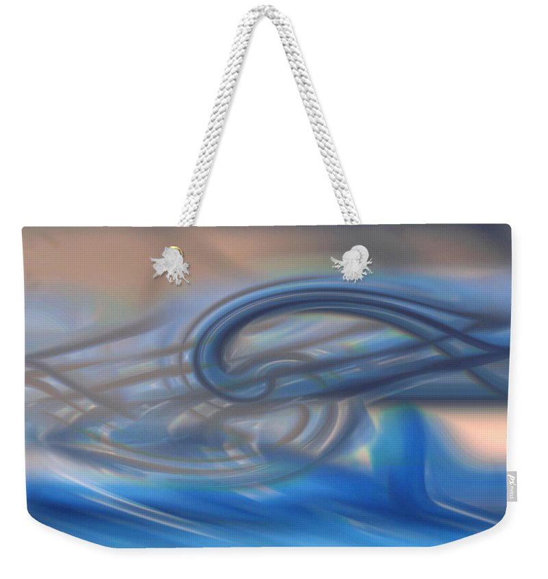 Abstracts Weekender Tote Bag featuring the digital art Curved Lines by Linda Sannuti