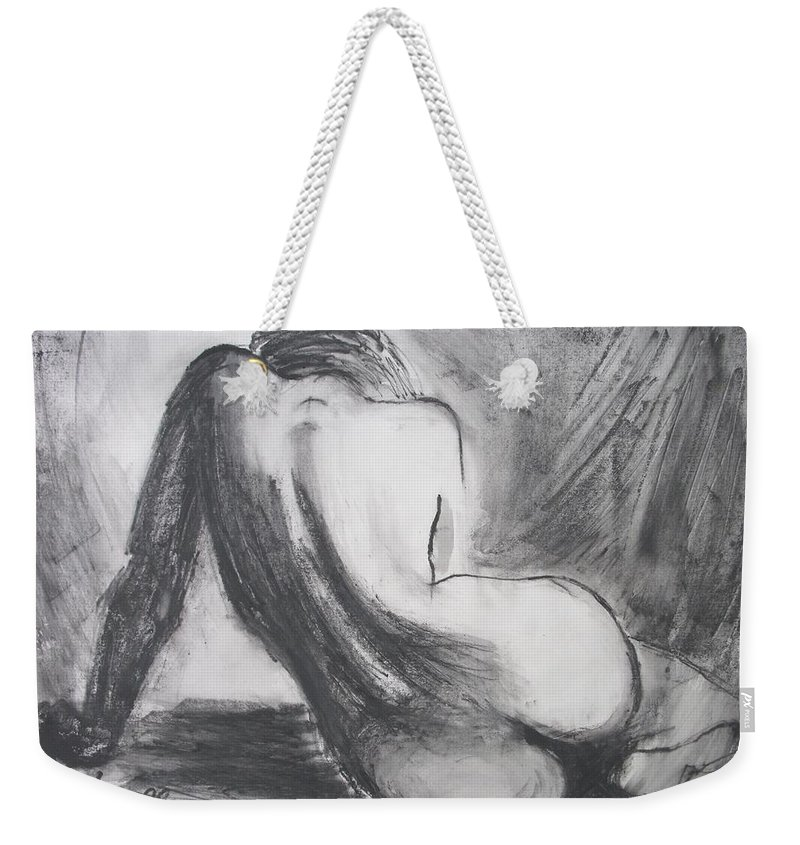 Curves Weekender Tote Bag featuring the painting Curves12 by Carmen Tyrrell