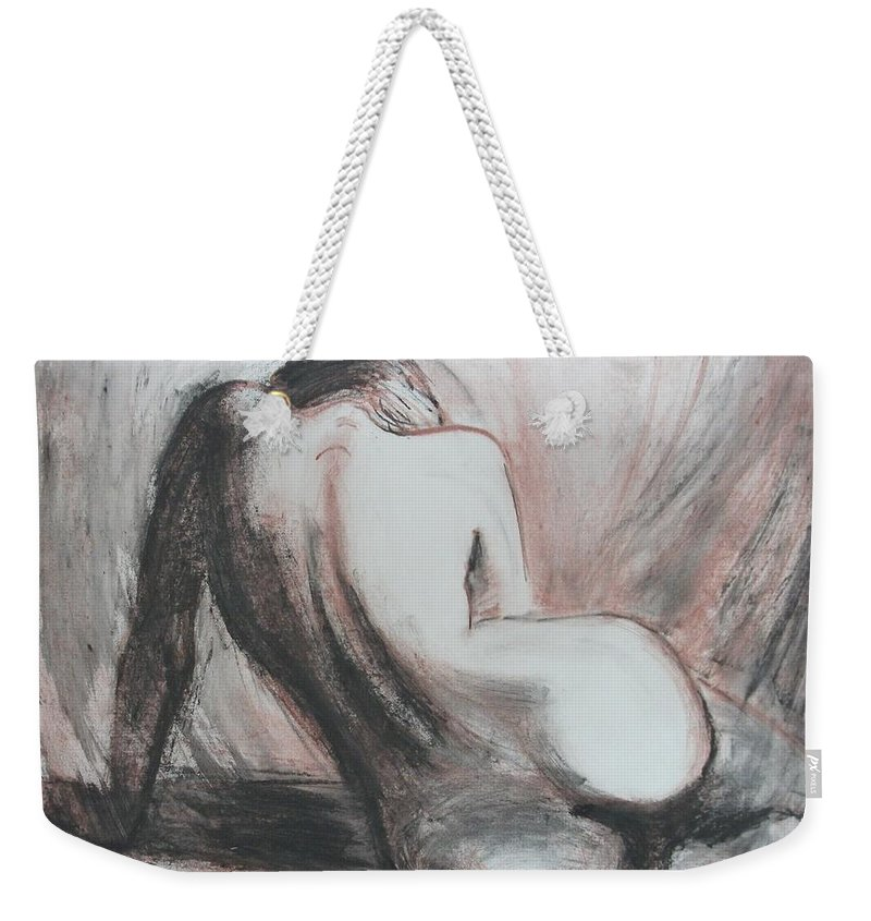 Curves Weekender Tote Bag featuring the painting Curves13 by Carmen Tyrrell