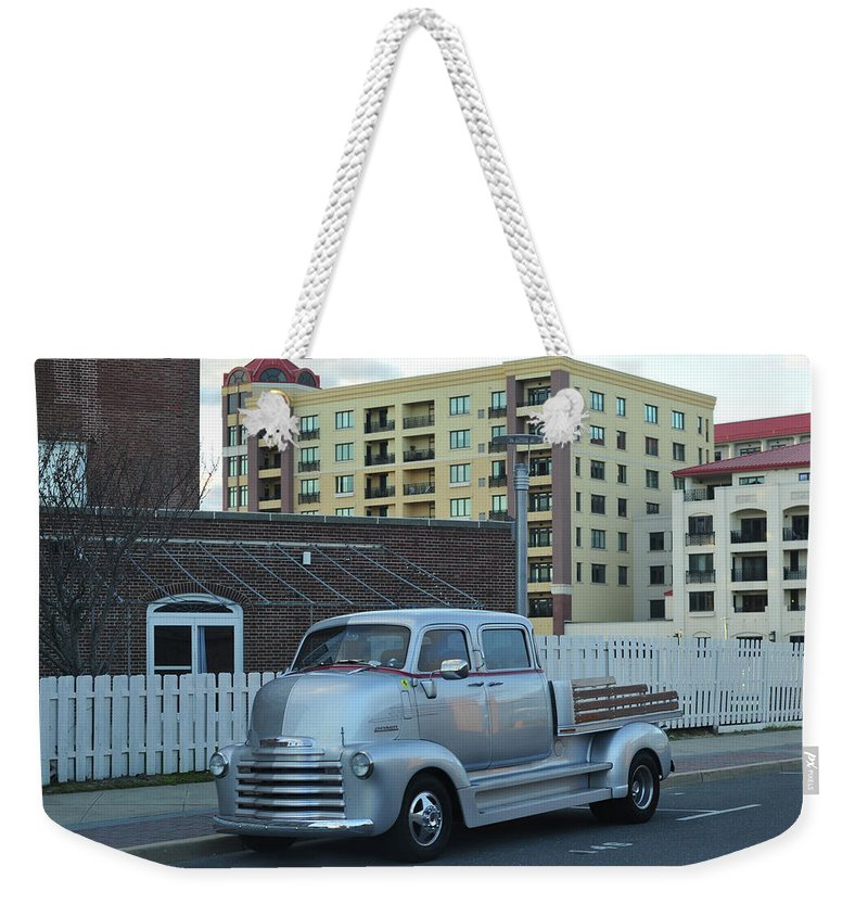 Terry D Photography Weekender Tote Bag featuring the photograph Custom Chevy Asbury Park Nj by Terry DeLuco
