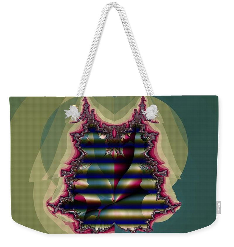 Quilted Weekender Tote Bag featuring the digital art Custom Quilted Shade by Ron Bissett