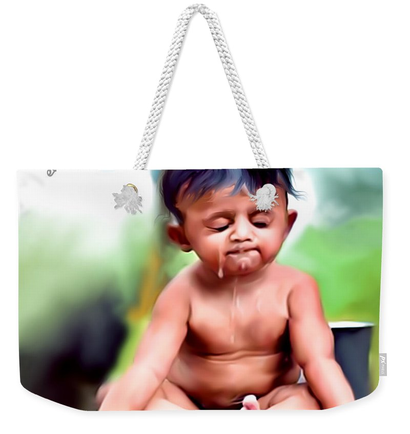 Cute Baby Bath Weekender Tote Bag for Sale by Photoshop Sasi