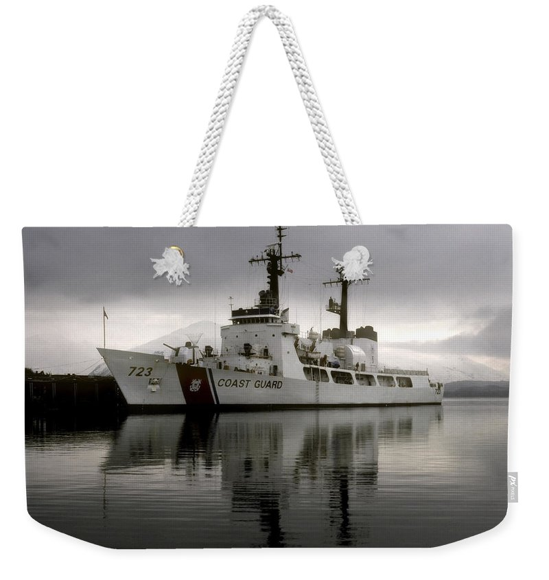Coast Guard Weekender Tote Bag featuring the photograph Cutter In Alaska by Steven Sparks