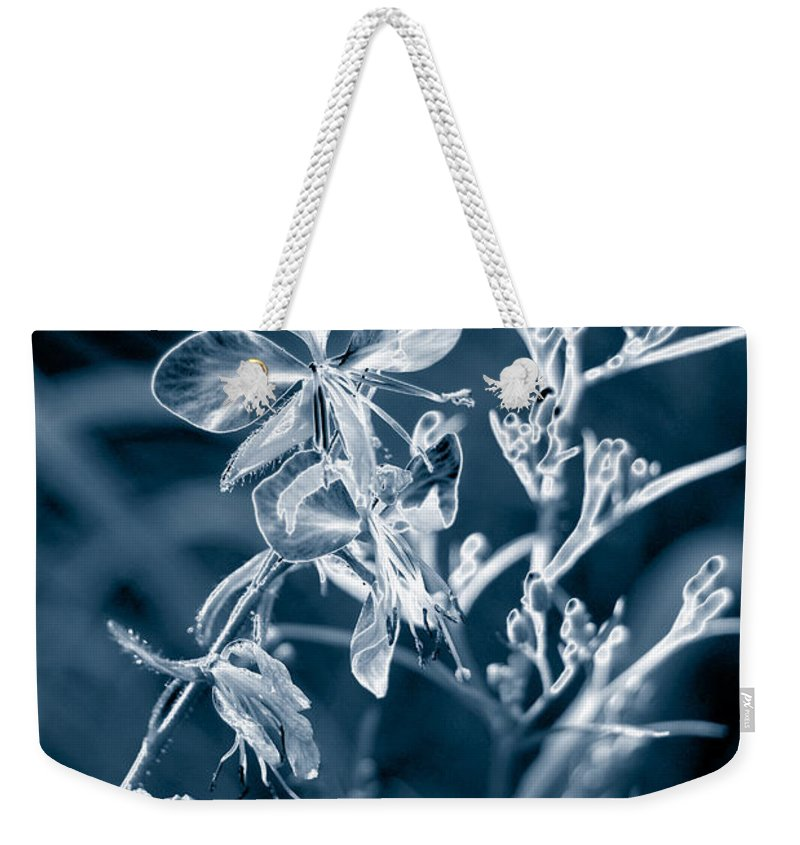 Cyanotype Weekender Tote Bag featuring the photograph Cyanotype Morn by Trish Hale