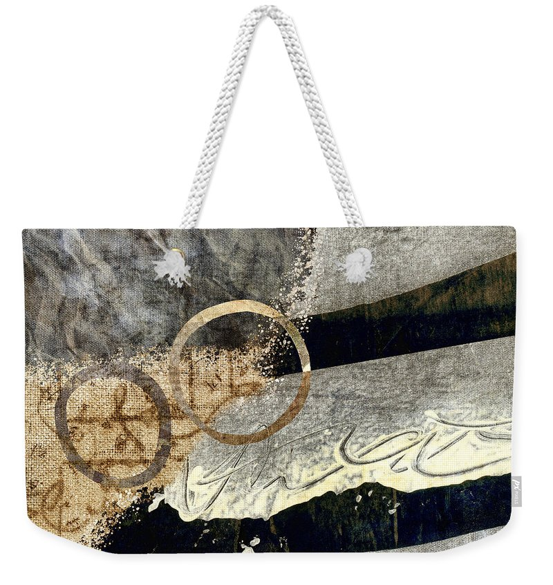 Abstract Weekender Tote Bag featuring the photograph Cyclists Abstract by Carol Leigh
