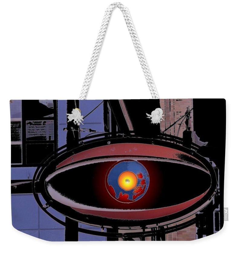 Seattle Weekender Tote Bag featuring the digital art Cyclops by Tim Allen