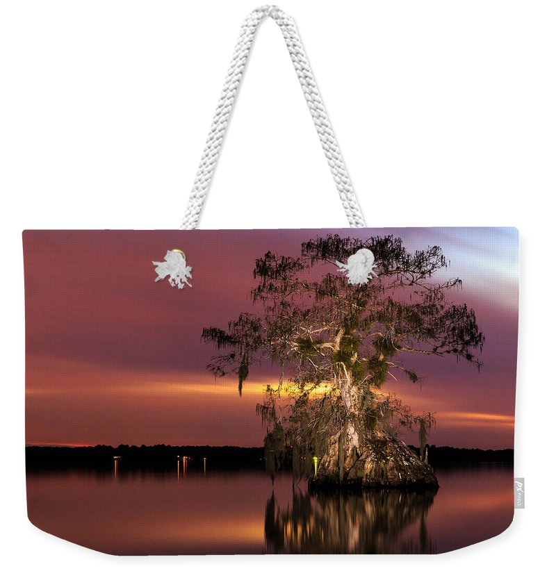 Florida Weekender Tote Bag featuring the photograph Cypress At Twilight by Stefan Mazzola