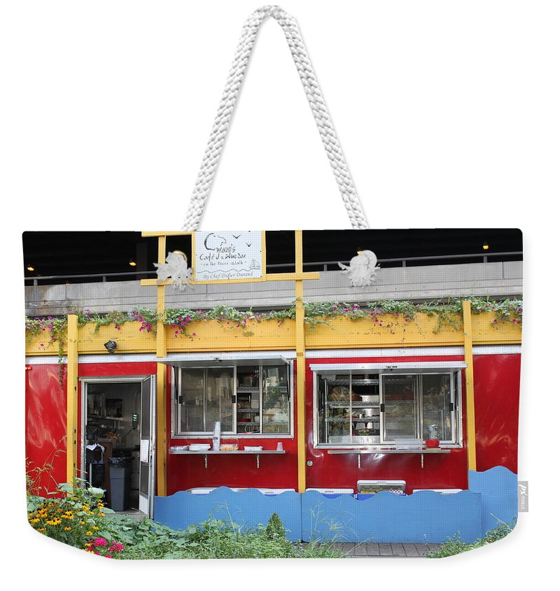 Chicago Weekender Tote Bag featuring the photograph Cyrano's by Lauri Novak