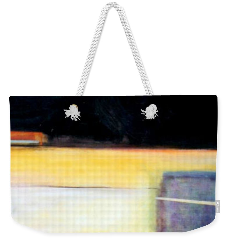 Abstract Weekender Tote Bag featuring the painting D-bird Lightening Bug by Marlene Burns