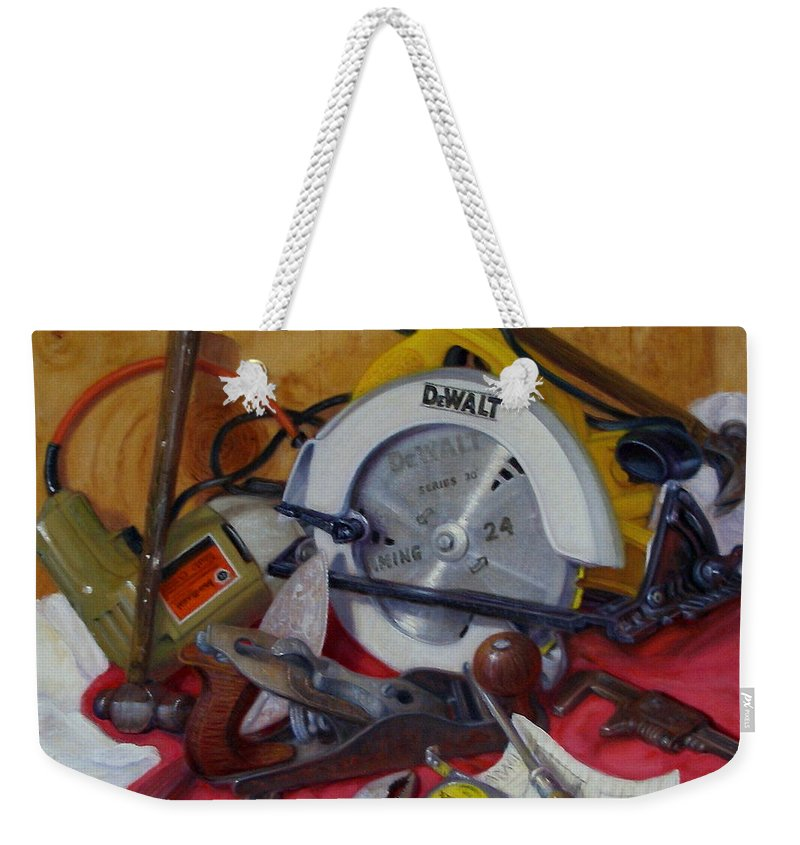 Realism Weekender Tote Bag featuring the painting D. I. Y. 2  by Donelli DiMaria