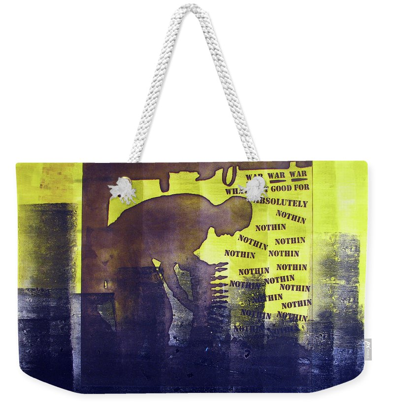 War Weekender Tote Bag featuring the painting D U Rounds Project, Print 23 by Erik Paul