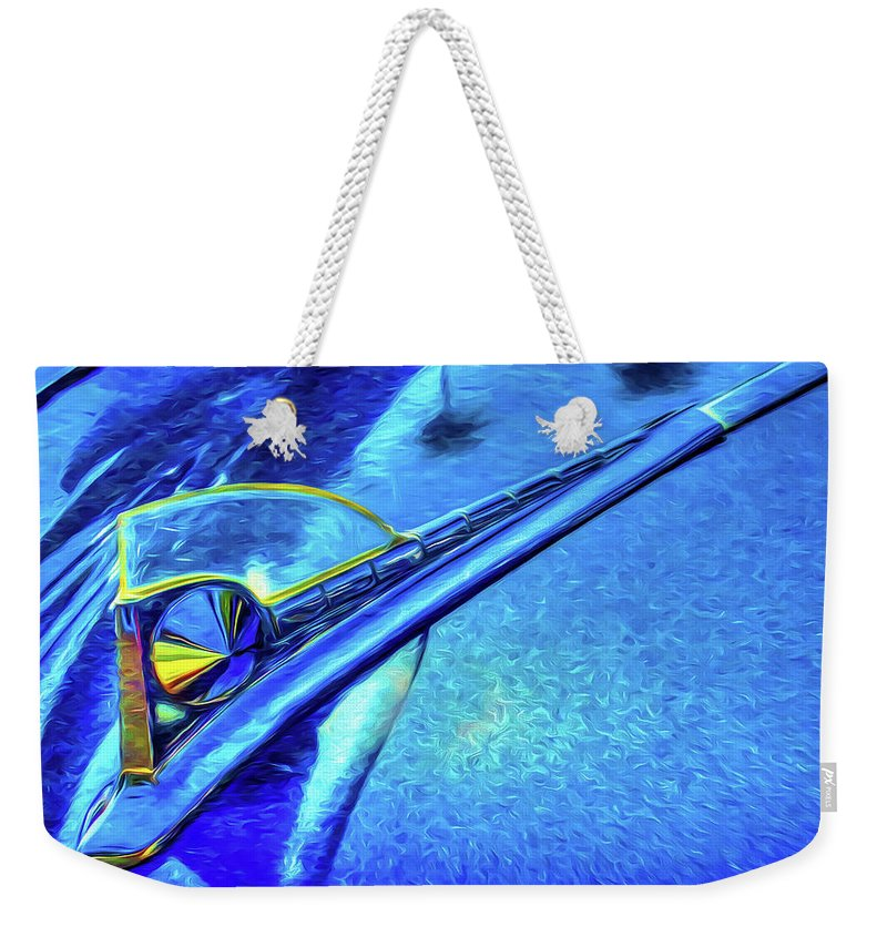Car Weekender Tote Bag featuring the photograph Da Hood by Paul Wear