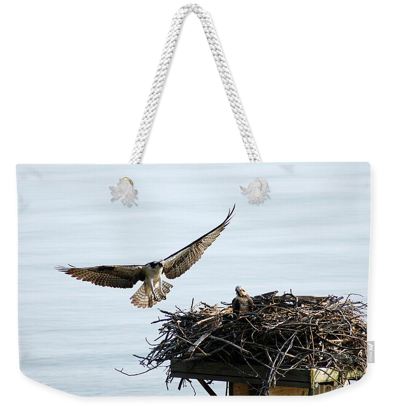Clay Weekender Tote Bag featuring the photograph Dads Home by Clayton Bruster
