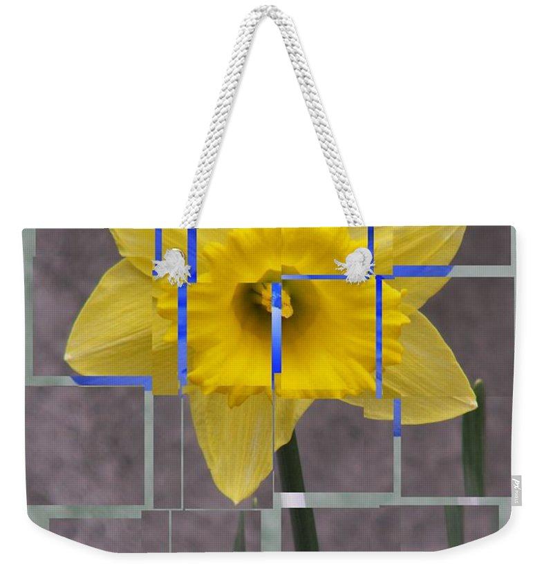 Flower Weekender Tote Bag featuring the digital art Daffodil 1 by Tim Allen