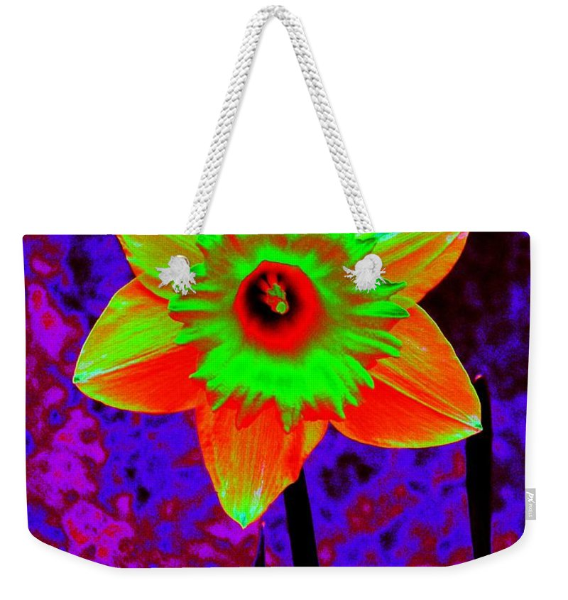 Daffodil Weekender Tote Bag featuring the photograph Daffodil 2 by Tim Allen