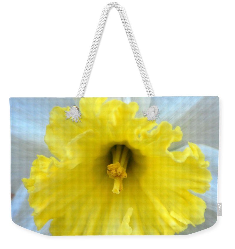 Daffodil Weekender Tote Bag featuring the photograph Daffodil by Amy Fose