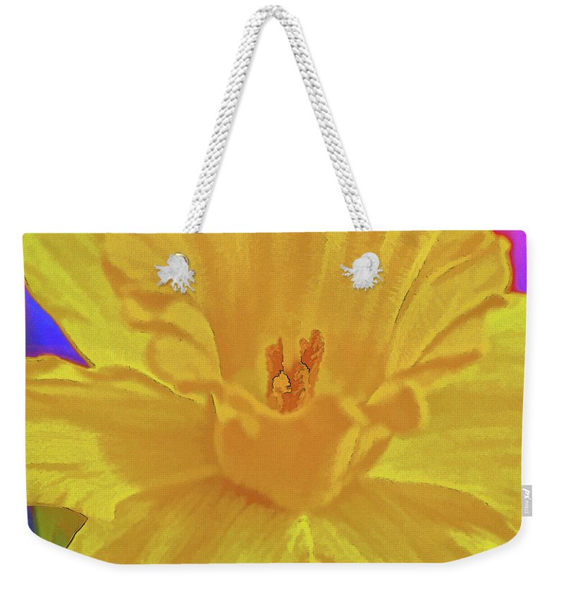 Flower Weekender Tote Bag featuring the photograph Daffodil In Spring by Charles Muhle