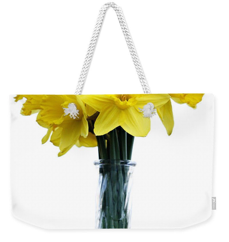 Daffodil Weekender Tote Bag featuring the photograph Daffodil by Marilyn Hunt
