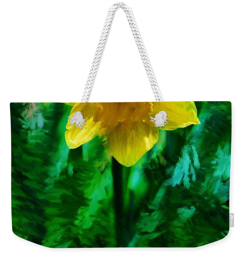 Abstract Weekender Tote Bag featuring the photograph Daffy Dill by David Lane
