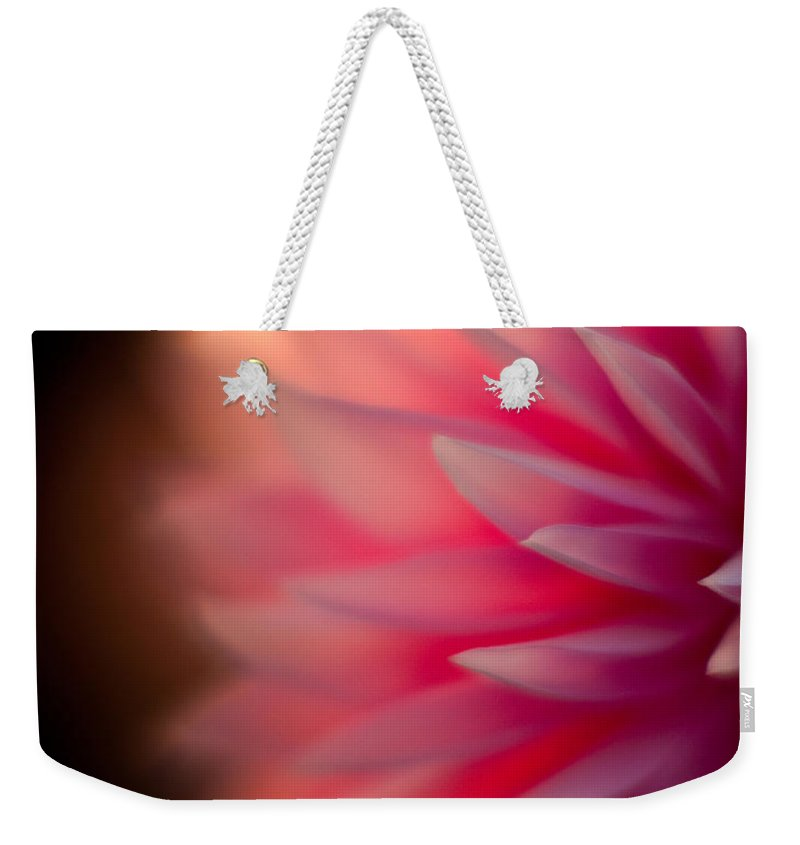 Dahlia Weekender Tote Bag featuring the photograph Dahlia Sunset by Mike Reid