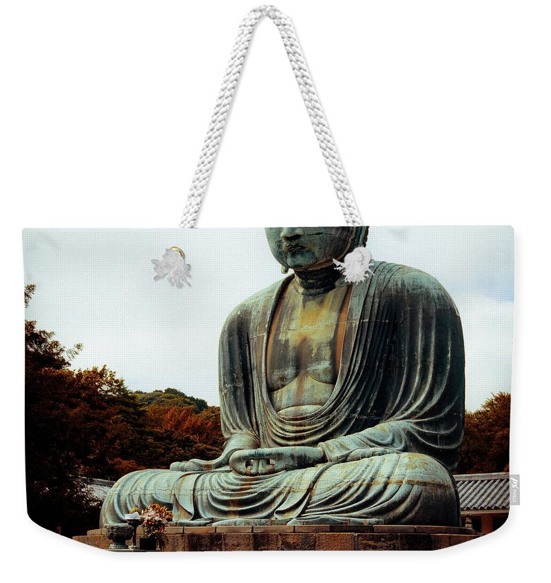 Nate Spotts Weekender Tote Bag featuring the photograph Daibutsu by Nathan Spotts