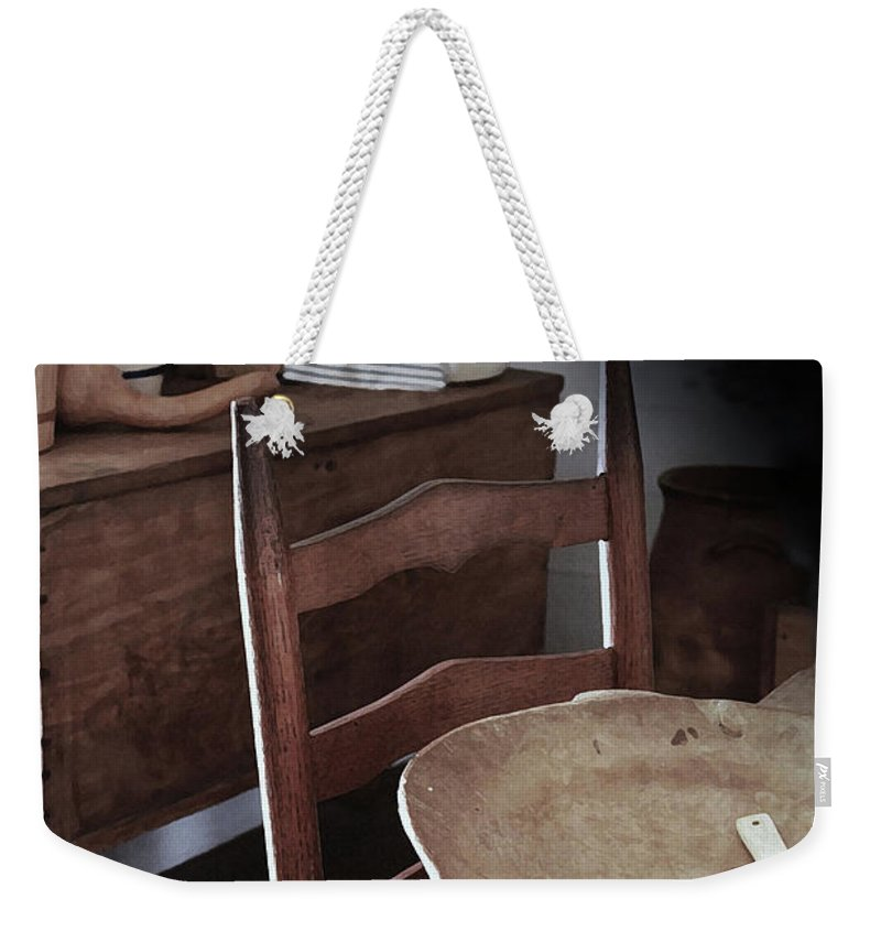 Primitive Kitchens Weekender Tote Bag featuring the photograph Daily Bread by Kim Henderson