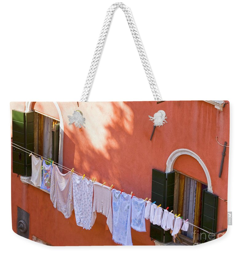 Heiko Weekender Tote Bag featuring the photograph Daily Life In Venice by Heiko Koehrer-Wagner