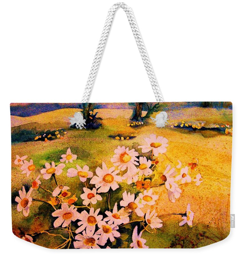 Daisies Weekender Tote Bag featuring the painting Daisies In The Sun by Carole Spandau