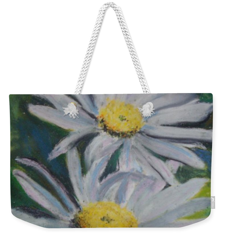 Daisies Weekender Tote Bag featuring the painting Daisies by Melinda Etzold