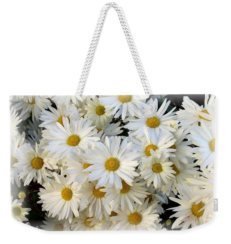 Daisy Weekender Tote Bag featuring the photograph Daisy Bouquet by Carol Sweetwood