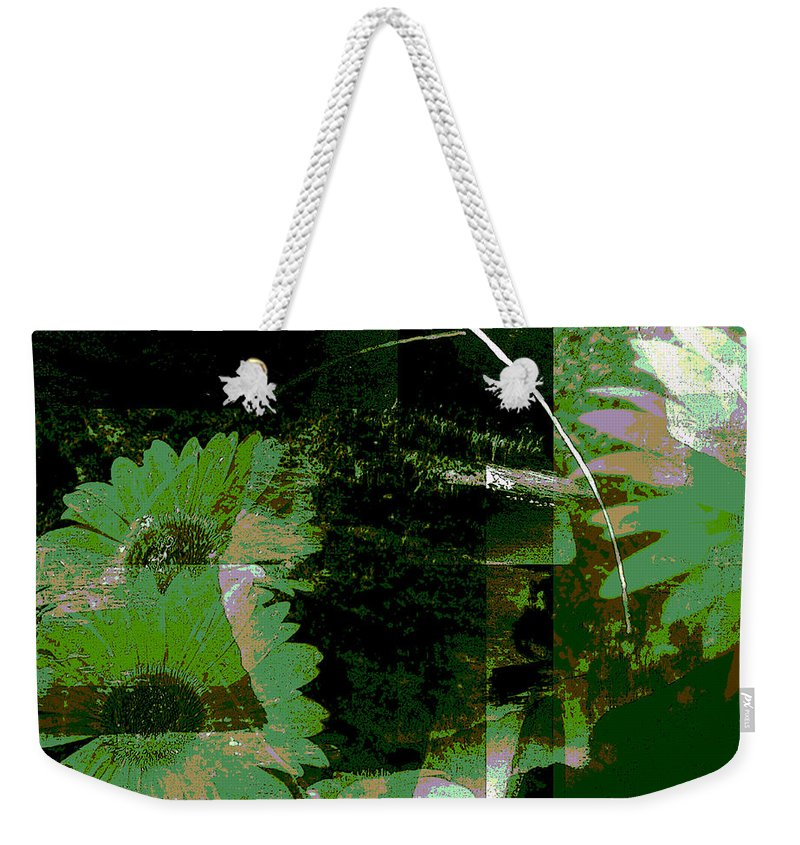 Abstract Weekender Tote Bag featuring the mixed media Daisy Chain by Ruth Palmer