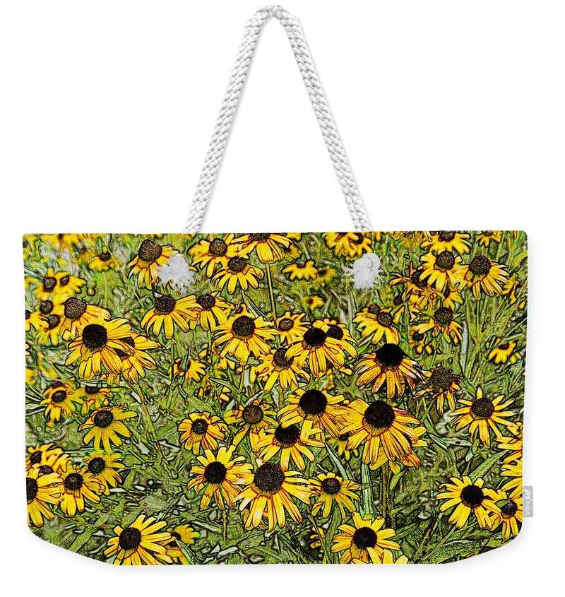 San Antonio Weekender Tote Bag featuring the photograph Daisy Daisy by Melinda Dominico