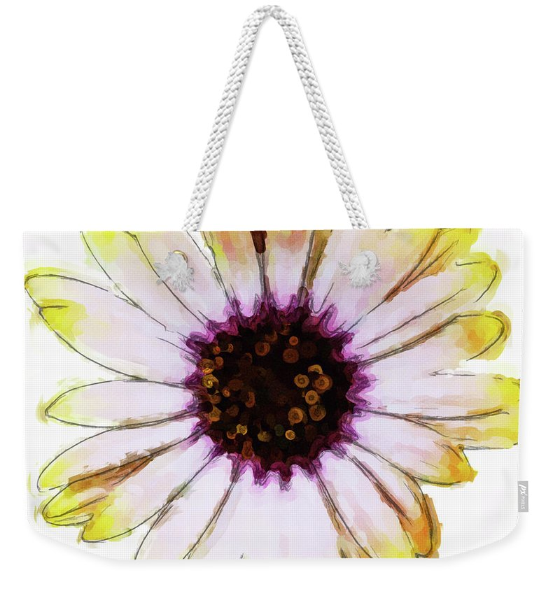 Flower Weekender Tote Bag featuring the photograph Daisy Decal Deco by JAMART Photography