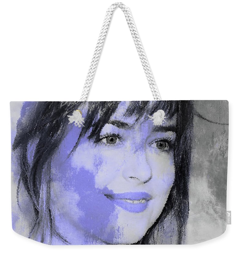 Johnny Depp Weekender Tote Bag featuring the painting Dakota Johnson 88 by Gull G