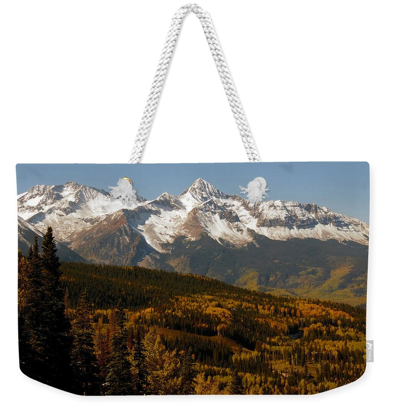 San Juan Mountains Colorado Weekender Tote Bag featuring the photograph Dallas Divide by David Lee Thompson