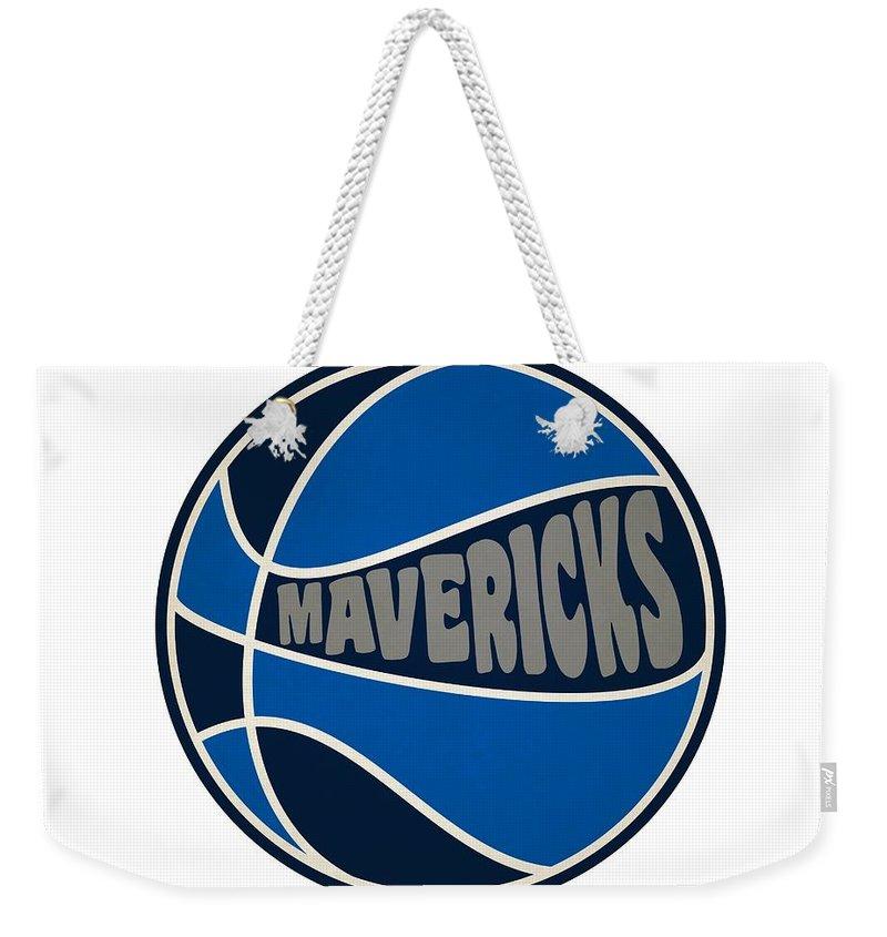Magic Weekender Tote Bag featuring the photograph Dallas Mavericks Retro Shirt by Joe Hamilton
