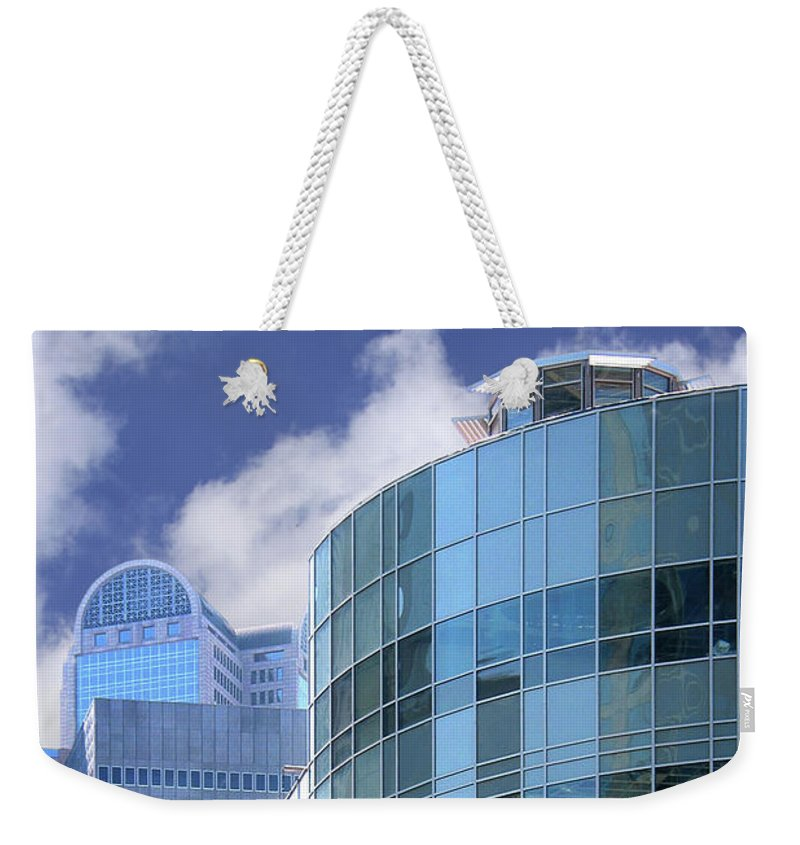 Architecture Weekender Tote Bag featuring the photograph Dallas Skyscrapers by David and Carol Kelly