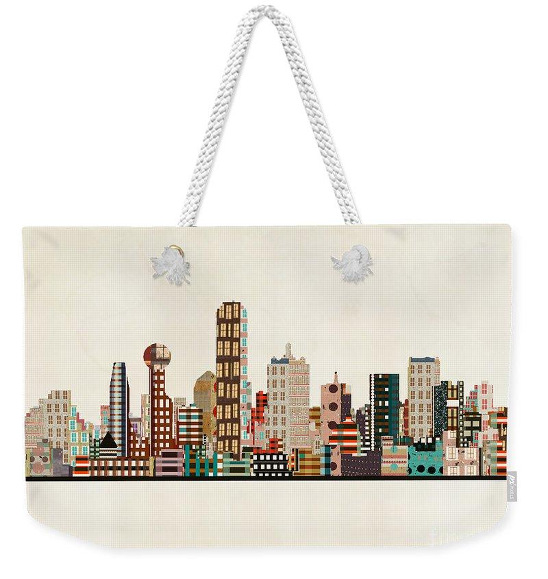 Dallas Skyline Weekender Tote Bags