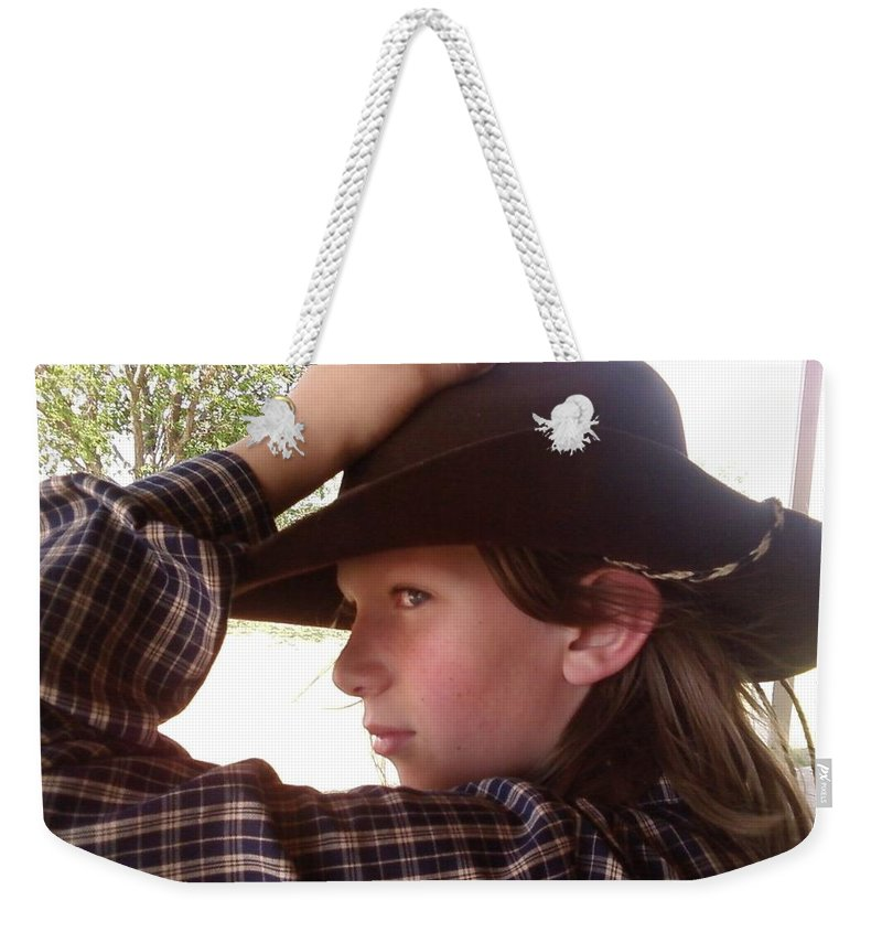 Cowboy Weekender Tote Bag featuring the photograph Dan by Cindy New