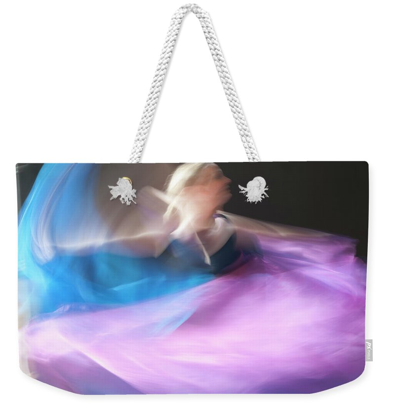 Delicacy Weekender Tote Bag featuring the photograph Dance Ballerina by Adele Aron Greenspun