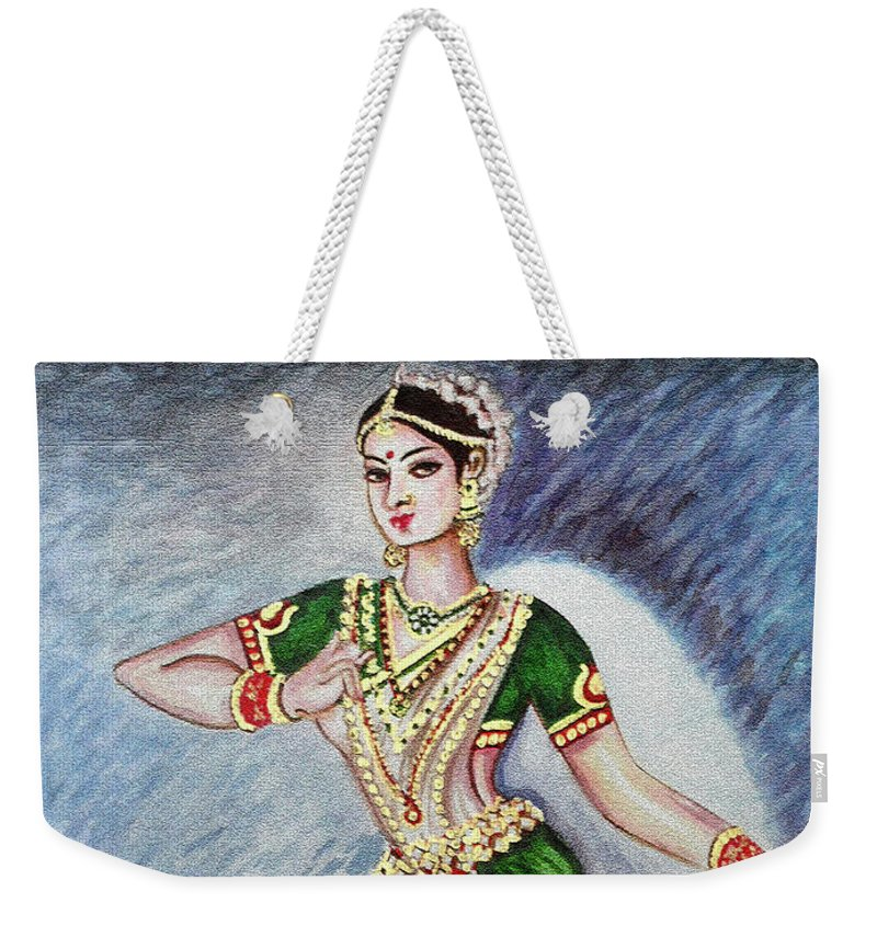 Dance Weekender Tote Bag featuring the painting Dance 2 by Harsh Malik