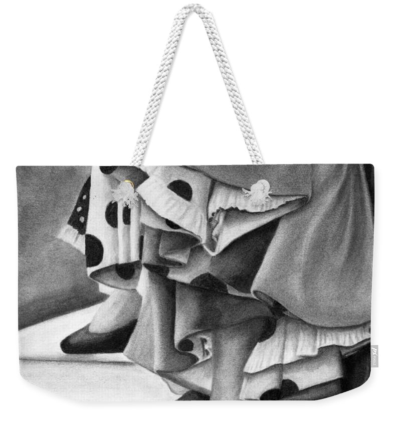 Cinco De Mayo Dancers Weekender Tote Bag featuring the drawing Dance by Debbie Smith
