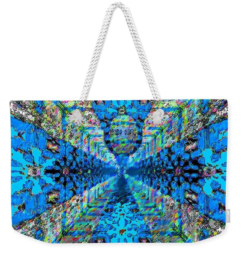 Digital Weekender Tote Bag featuring the digital art Dance Hall Mirrors No. 2 by Joy McKenzie