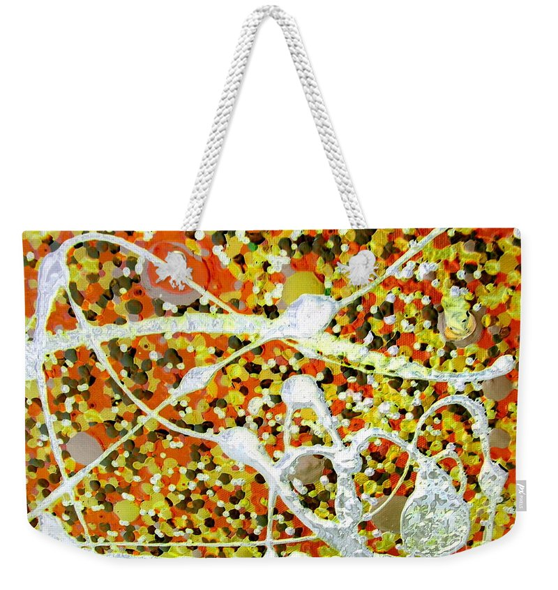Dancing Machine Weekender Tote Bag featuring the painting Dance Machine by Dawn Hough Sebaugh