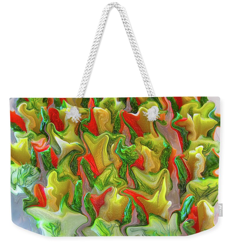 Abstract Weekender Tote Bag featuring the photograph Dance Of The Appetizers by Kathy Moll
