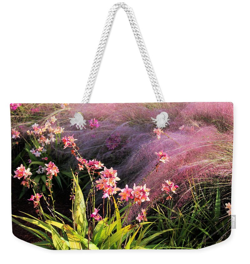 Flower Weekender Tote Bag featuring the photograph Dance Of The Orchids by Rosalie Scanlon