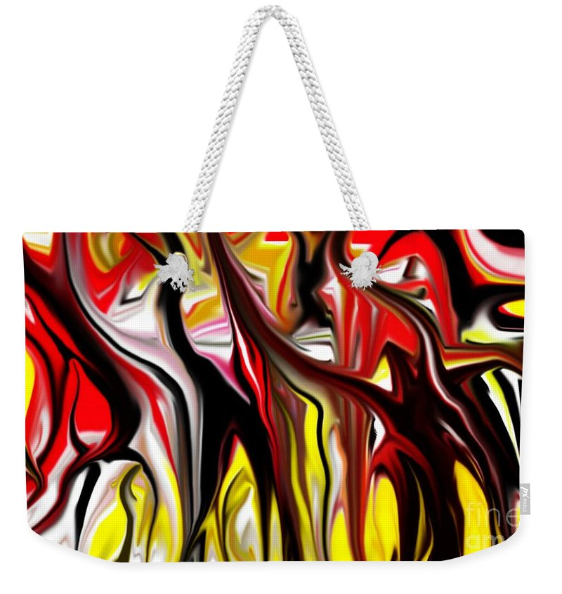 Abstract Weekender Tote Bag featuring the digital art Dance Of The Sugar Plum Faries by David Lane